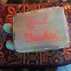 Just Beachin' cosmetic bag